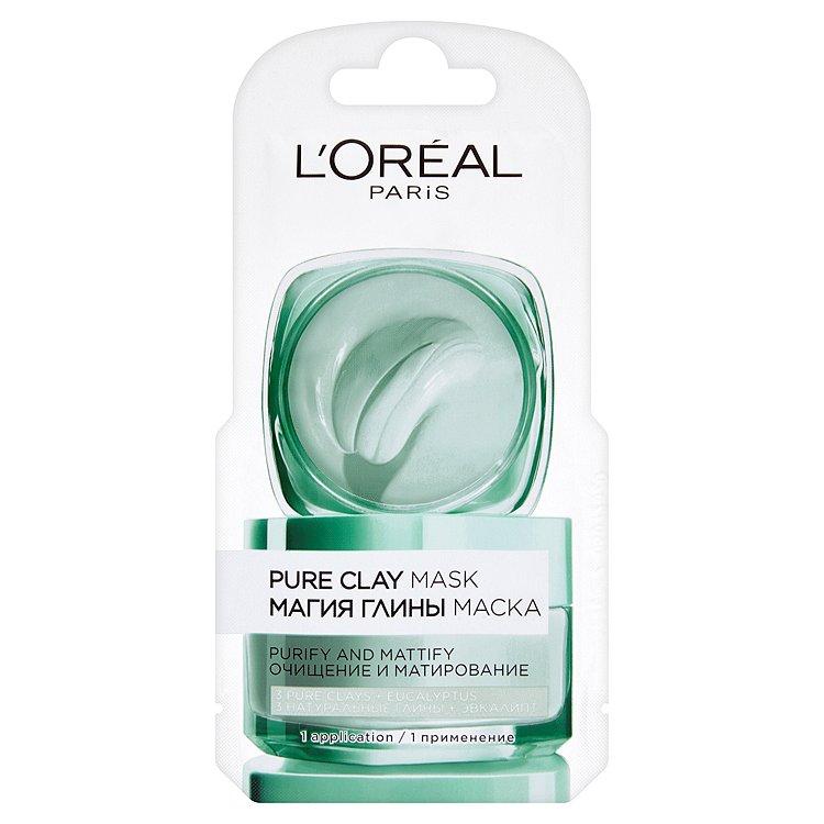 L'Oreal Paris Pure Clay čisticí zmatňující maska 6 ml
