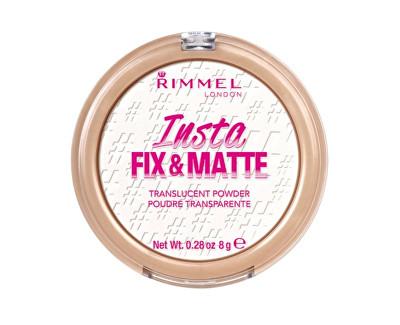 Transparentní pudr s matujícím finišem (Insta Fix & Matte Powder) 8 g 001 Translucent (průsvitný)