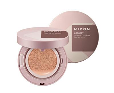 Fluidní korekční make-up s rakytníkem a SPF 50+ s náhradní náplní (Correct Vita Oil Cushion SPF 50+ And Refill) 2 x 15 g Natural Beige