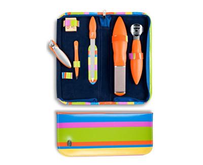 Luxusní 6 dílná pedikúra Pop Art 6 - oranžová