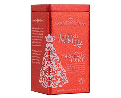 Vánoční plechovka 15 hedvábných pyramidek - Vánoční punč Vánoční punč