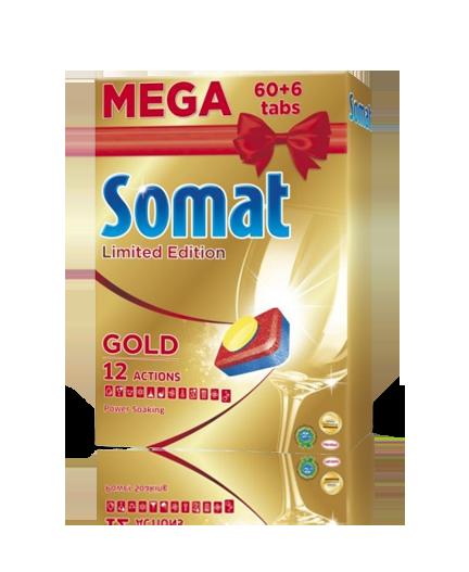 Somat Gold tablety do myčky limitovaná edice 60 + 6 ks
