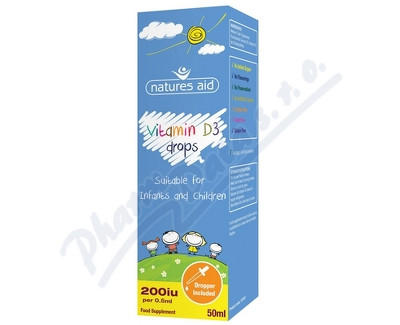 Fotografie Vitamín D3 kapky pro děti (400 IU) 50ml