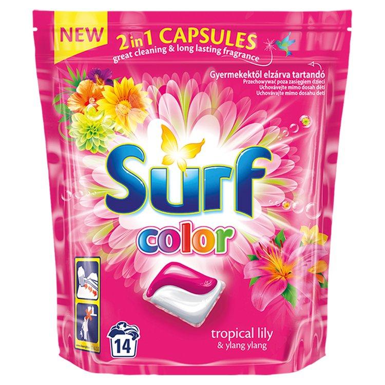 Surf Color Tropical 2v1 kapsle na praní 14 ks