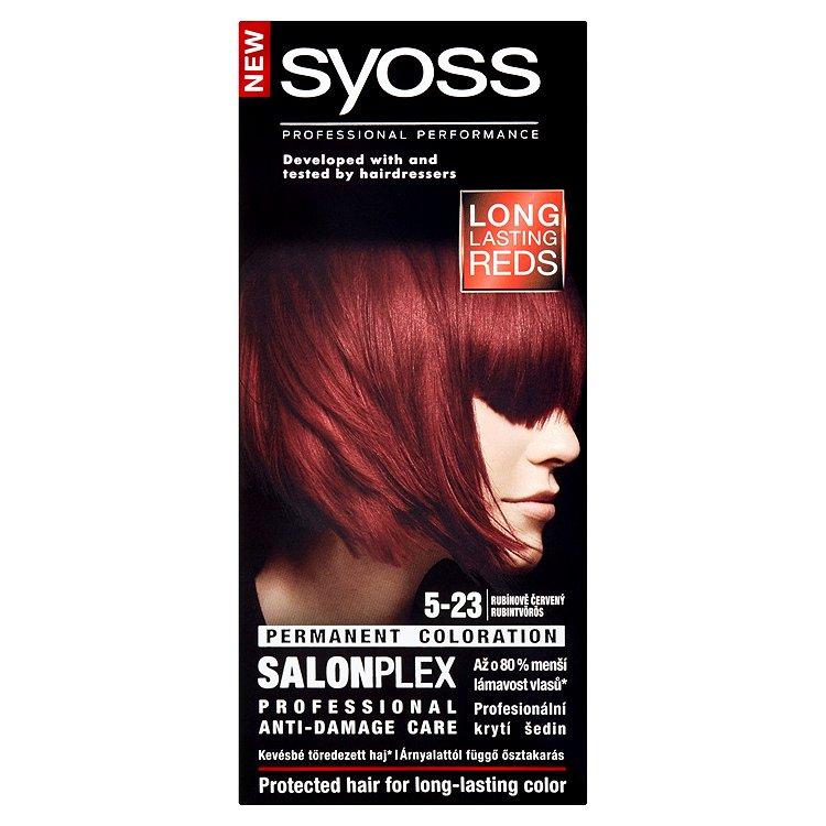 Fotografie Syoss Color SalonPlex barva na vlasy 5-23 Rubínově červený