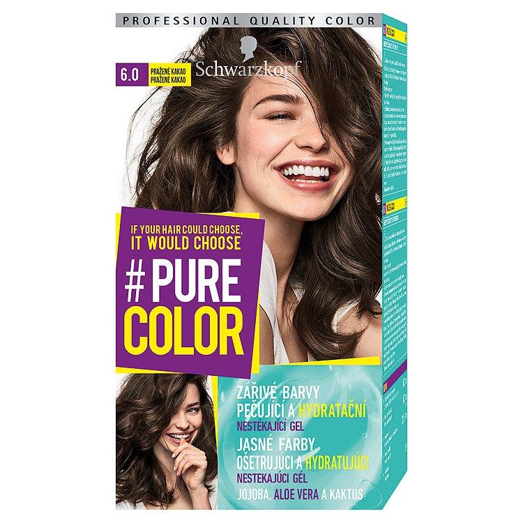Schwarzkopf Pure Color barva na vlasy Pražené Kakao 6.0, 60 ml