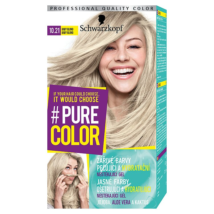 Fotografie Schwarzkopf Pure Color barva na vlasy Baby Blond 10.21, 60 ml