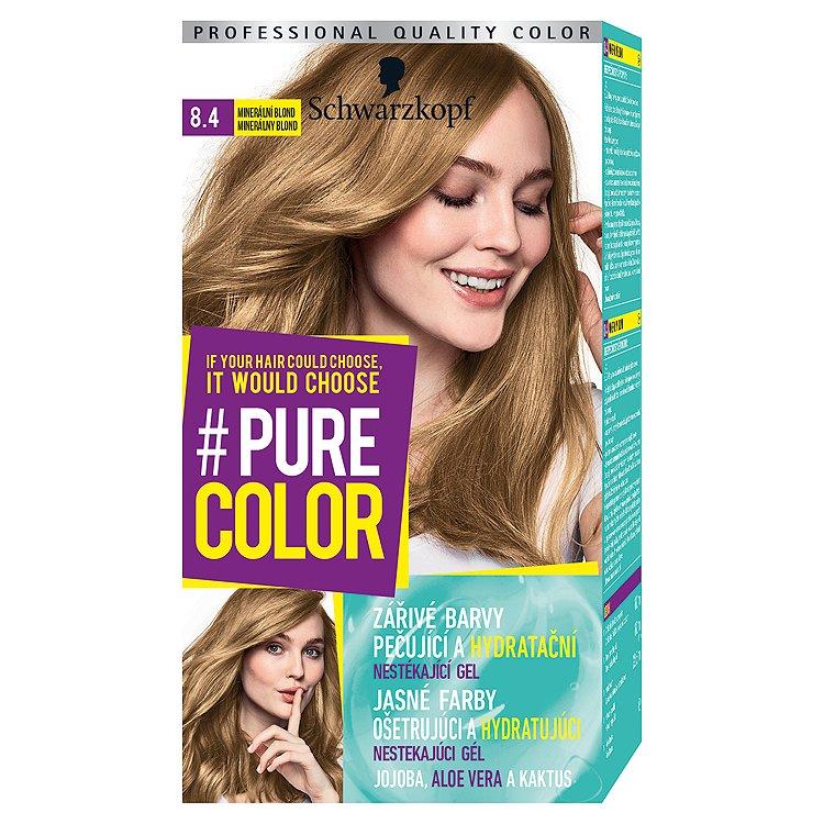 Fotografie Schwarzkopf Pure Color barva na vlasy Minerální Blond 8.4, 60 ml