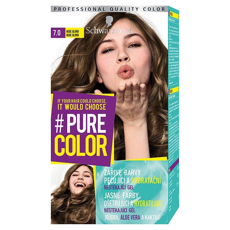 Fotografie Schwarzkopf Pure Color barva na vlasy Nude Blond 7.0, 60 ml