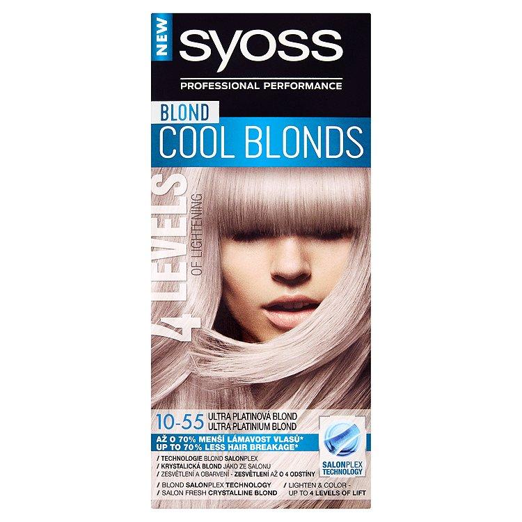 Syoss Blond Cool Blonds barva na vlasy Ultra Platinová Blond 10-55, 50 ml