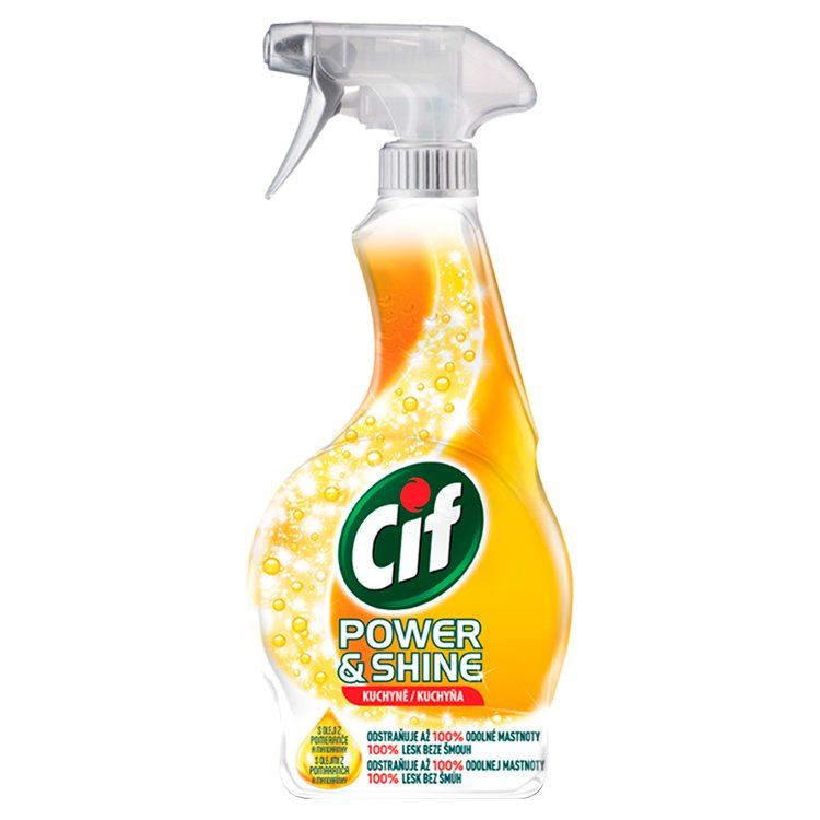Fotografie Cif Power & Shine kuchyně čisticí sprej 500 ml