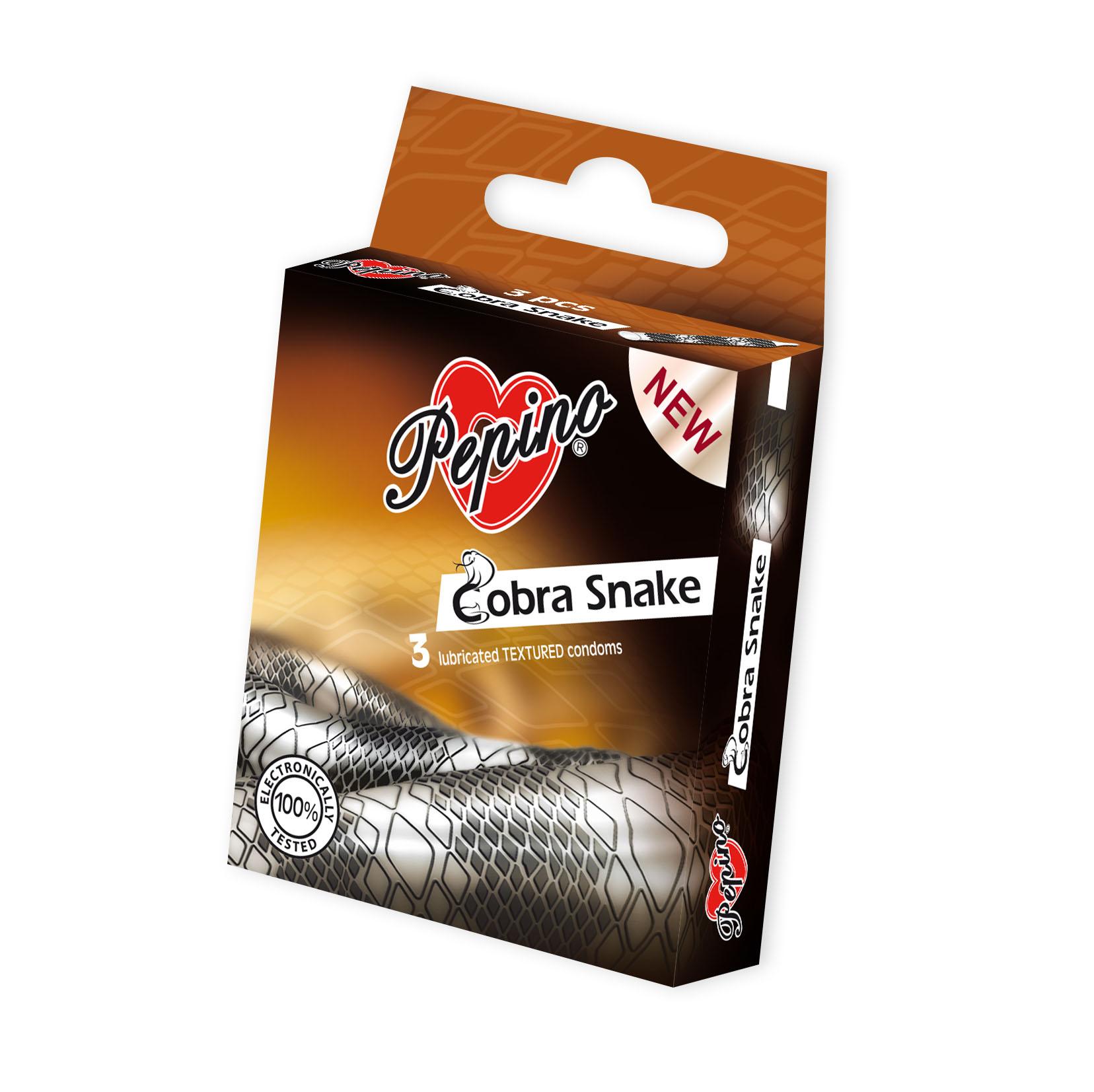 Fotografie Pepino Cobra Snake kondomy 3 ks