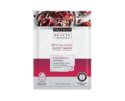 Revitalizační látková maska Granátové jablko Beauty Infusion (Revitalizing Sheet Mask) 25 ml