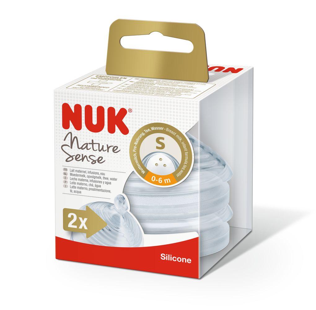 NUK Nature Sense savička velikost 1, S, 0–6 měsíců, 2 ks