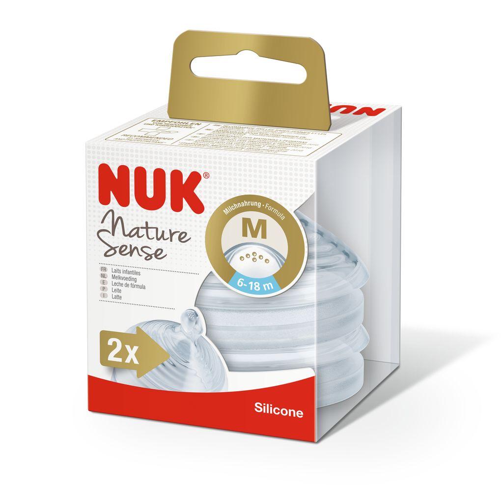 NUK Nature Sense savička velikost 2, M, 6–18 měsíců, 2 ks