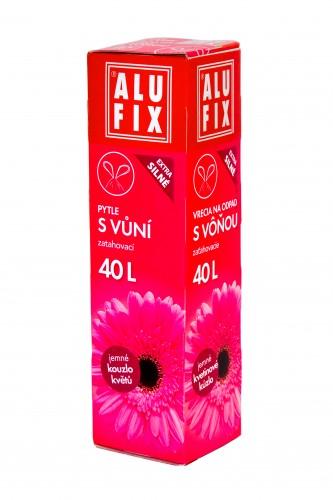 Fotografie Alufix odpadkové pytle zatahovací s vůní kouzlo květů, 40 l 12 ks, 60 x 53 cm