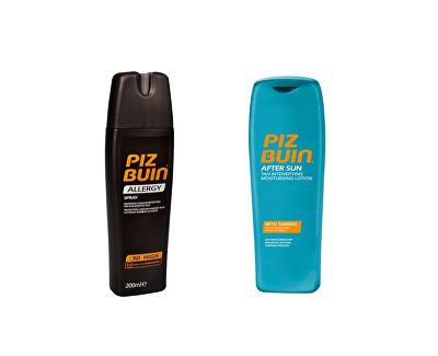 Piz Buin Allergy sprej na opalování SPF 30 a After Sun hydratační mléko pro intenzivnější opálení 200 ml + 200 ml