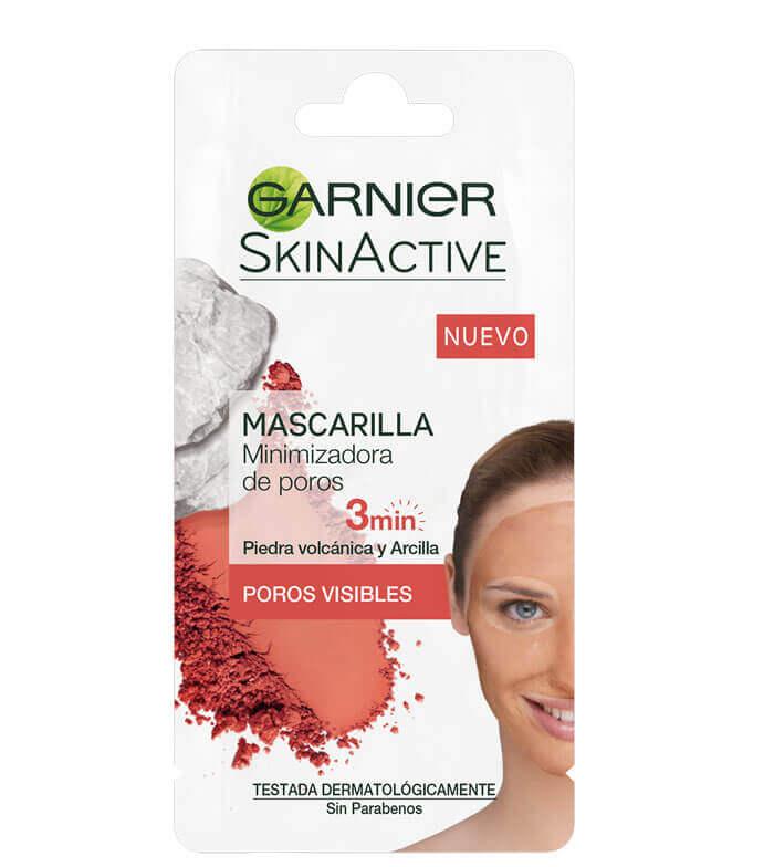 Fotografie Garnier Skin Active hřejivá čisticí maska Vulcano pro rozšířené póry 8 ml