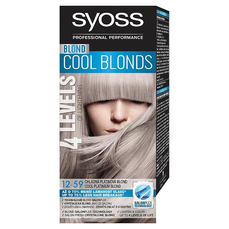 Syoss Blond Cool Blonds barva na vlasy Chladná platinová blond 12-59, 50 ml