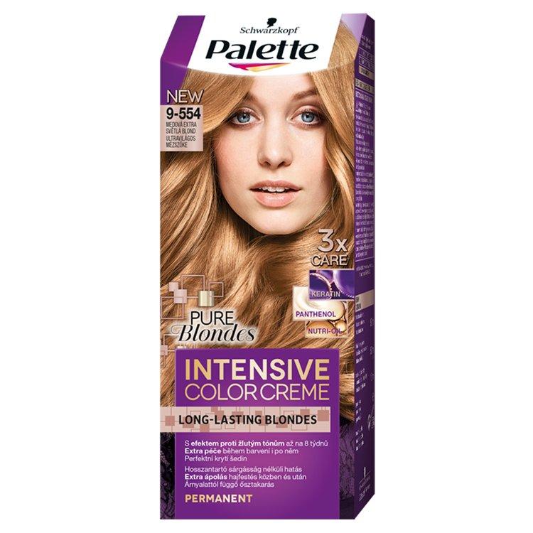 Schwarzkopf Palette Intensive Color Creme barva na vlasy Medová Extra Světlá Blond 9-554, 50 ml