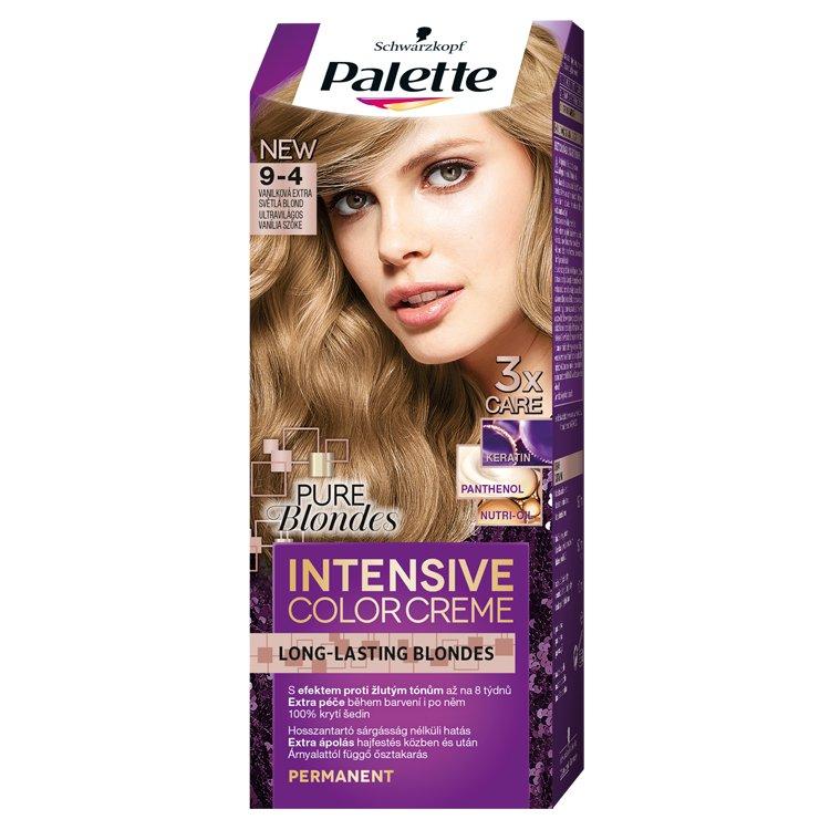 Schwarzkopf Palette Intensive Color Creme barva na vlasy Vanilková Extra Světlá Blond 9-4, 50 ml