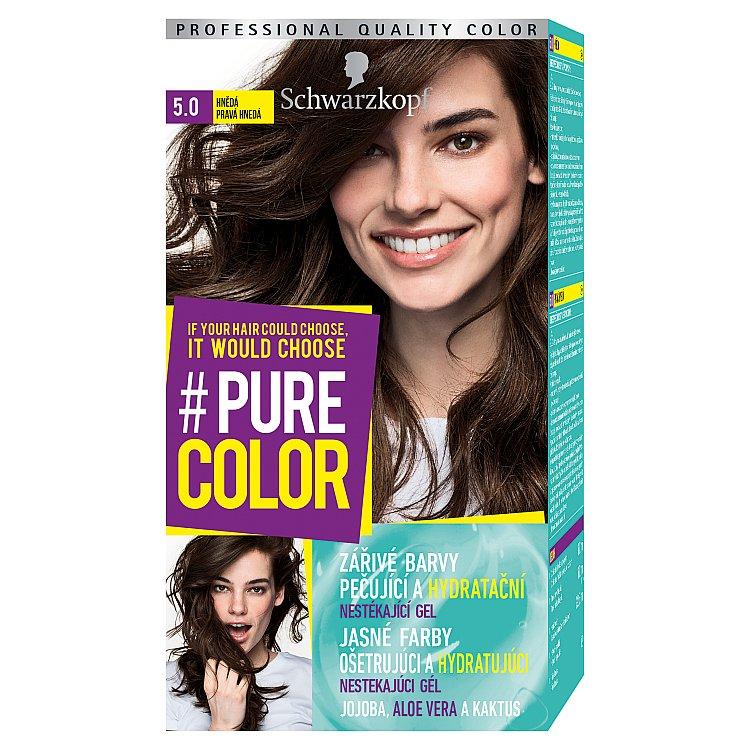Schwarzkopf Pure Color barva na vlasy Hnědá 5.0, 60 ml