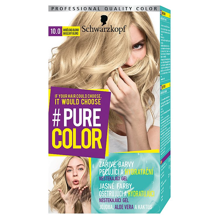 Fotografie Schwarzkopf Pure Color barva na vlasy Andělská Blond 10.0, 60 ml