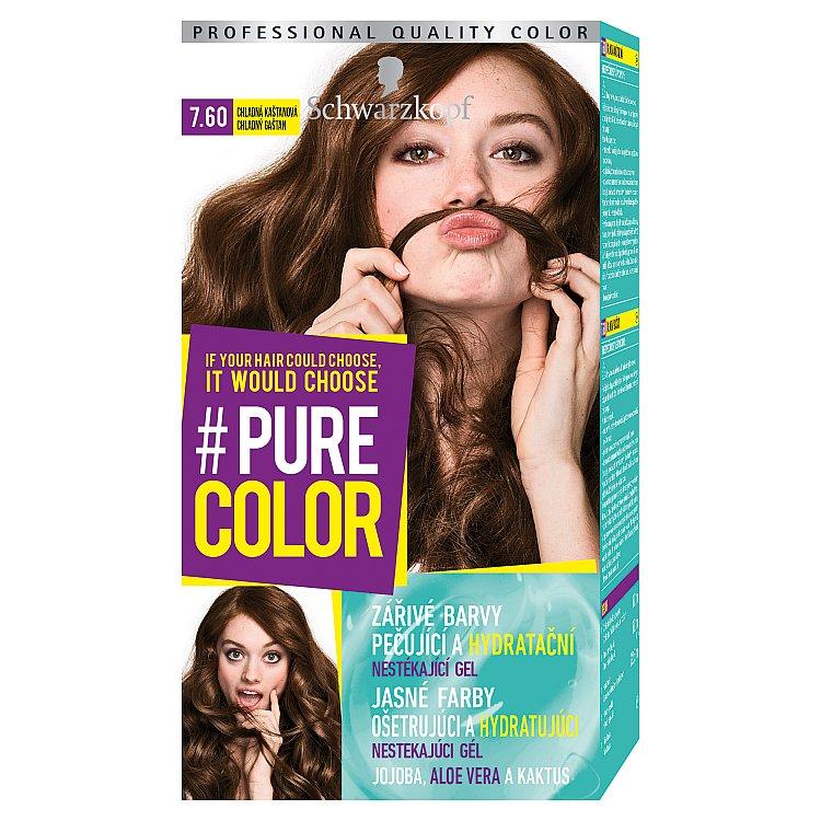 Schwarzkopf Pure Color barva na vlasy Chladná Kaštanová 7.60, 60 ml