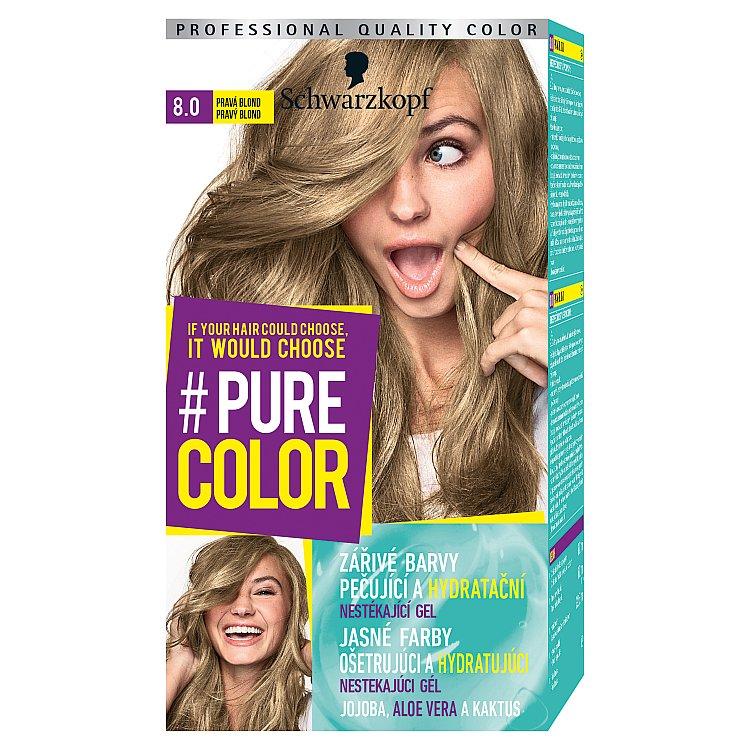 Fotografie Schwarzkopf Pure Color barva na vlasy Pravá Blond 8.0, 60 ml