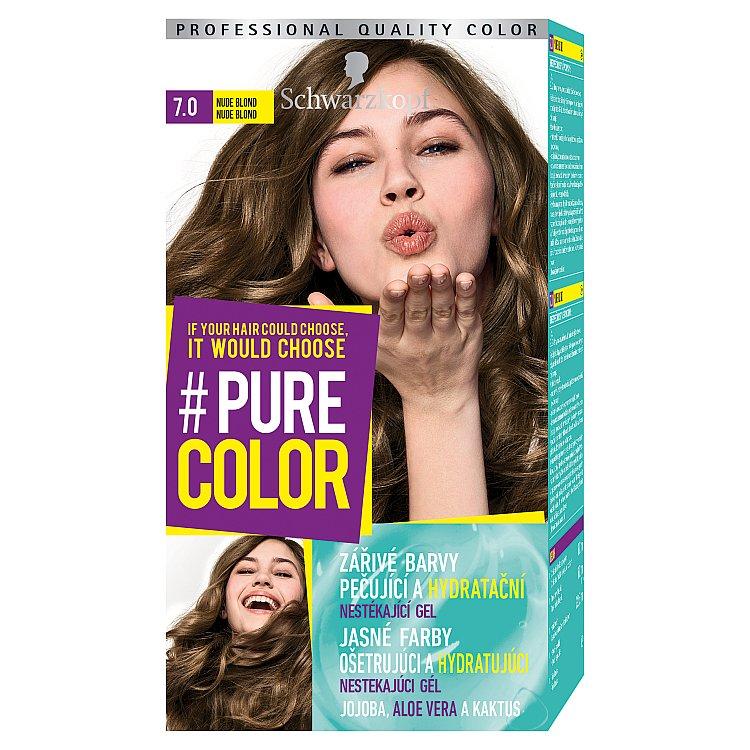 Schwarzkopf Pure Color barva na vlasy Nude Blond 7.0, 60 ml