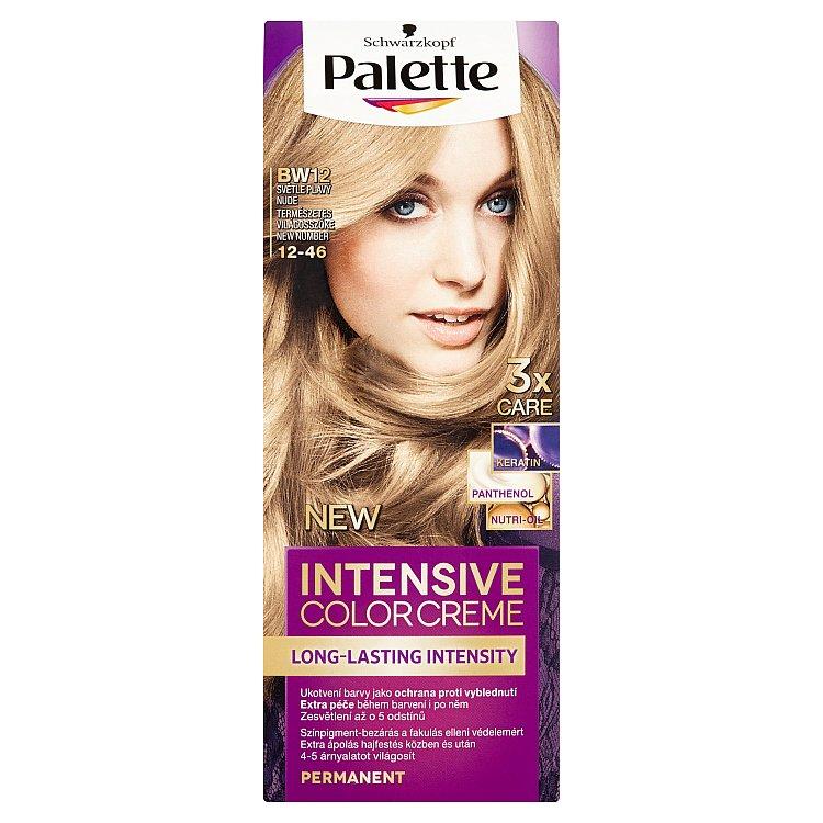Fotografie Schwarzkopf Palette Intensive Color Creme barva na vlasy BW12 Světle plavý nude