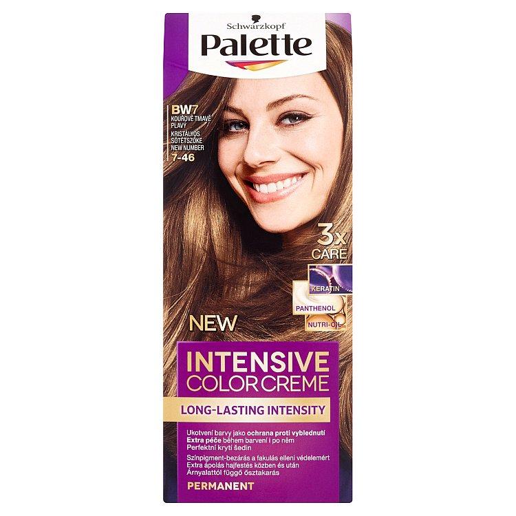 Schwarzkopf Palette Intensive Color Creme barva na vlasy Kouřově Tmavě Plavý BW7, 50 ml