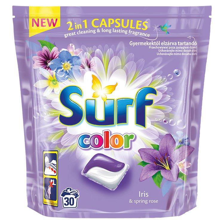 Surf Color Iris 2v1 kapsle na praní, 30 praní 30 ks