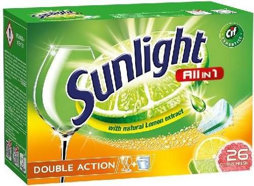 Sunlight All in 1 Citrus tablety do myčky nádobí 26 ks