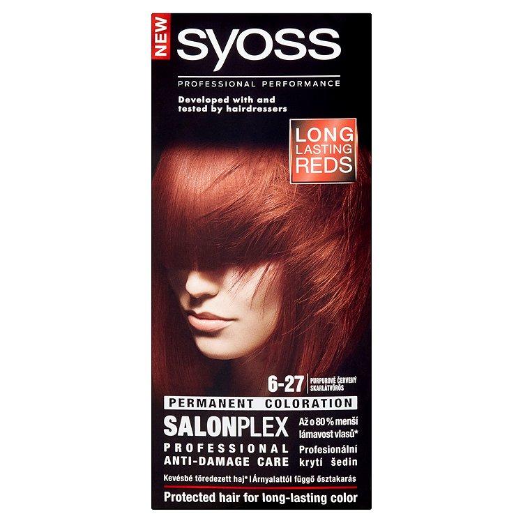 Fotografie Syoss Color SalonPlex barva na vlasy 6-27 Purpurově červený