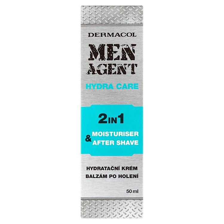 Fotografie Dermacol Men Agent Hydra Care hydratační balzám po holení 2v1 50 ml