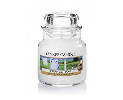 Yankee Candle Classic malý vonná svíčka Čistá bavlna, 104 g