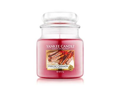 Yankee Candle Classic střední vonná svíčka Třpytivá skořice, 411 g