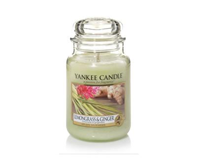 Yankee Candle Classic velký vonná svíčka Citrónová tráva a zázvor, 623 g