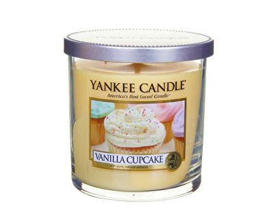 Yankee Candle Décor malý vonná svíčka Vanilkový košíček, 198 g