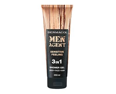 Dermacol sprchový gel pro muže 3v1 Sensitive Feeling Men Agent (Shower Gel) 250 ml