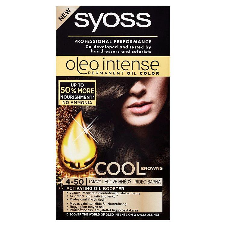 Syoss Oleo Intense olejová barva 4-50 Tmavý ledově hnědý, 50 ml