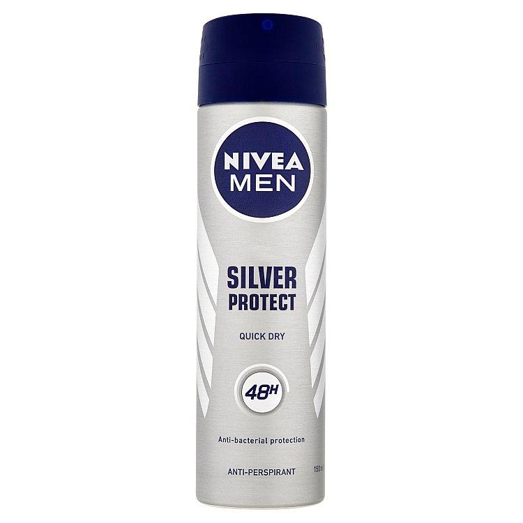 Nivea Silver Protect Dynamic Power antiperspirant ve spreji pro muže 150 ml