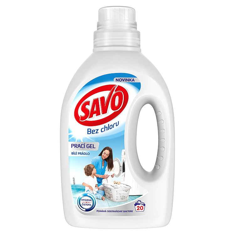 SAVO prací gel bílé prádlo 20 praní 1 l