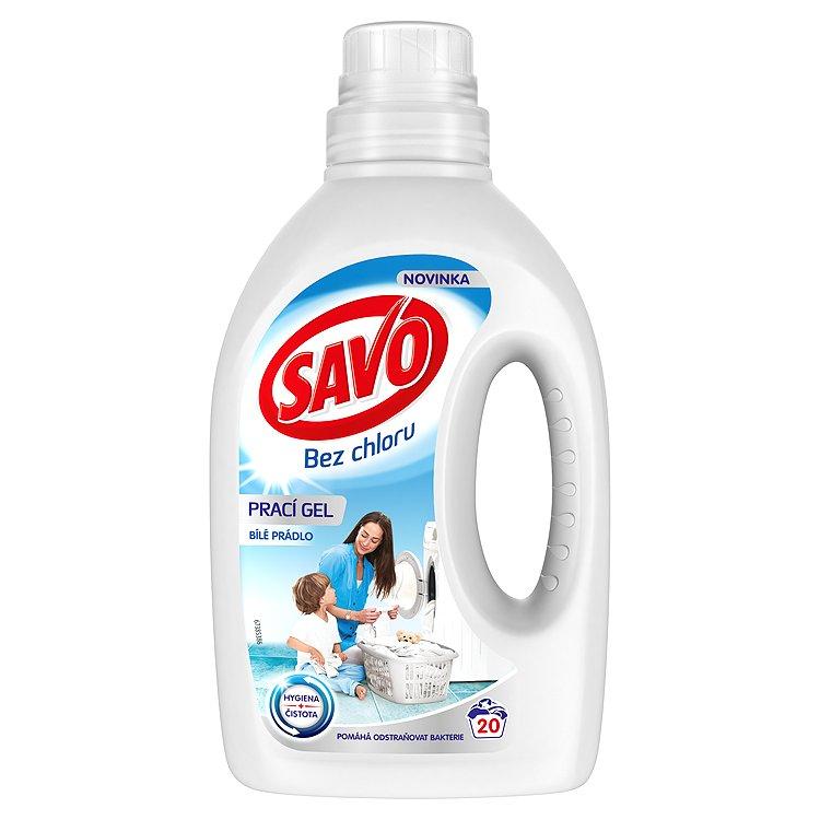 Fotografie Savo Bez chlóru White prací gel na bílé prádlo 20 dávek 1 l