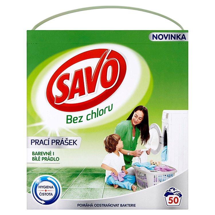 Fotografie SAVO prací prášek barevné i bílé 50 praní 3 Kg