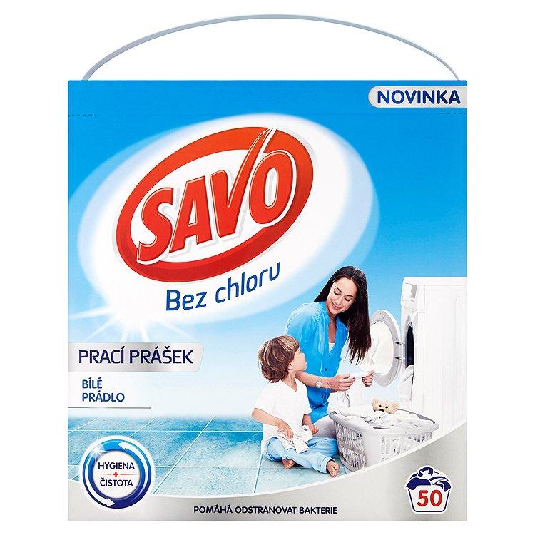 Fotografie SAVO prací prášek bílé prádlo 50 praní 3 Kg