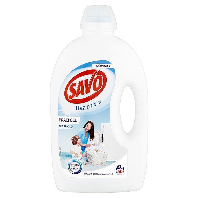 SAVO prací gel bílé prádlo 50 praní 2,5 l