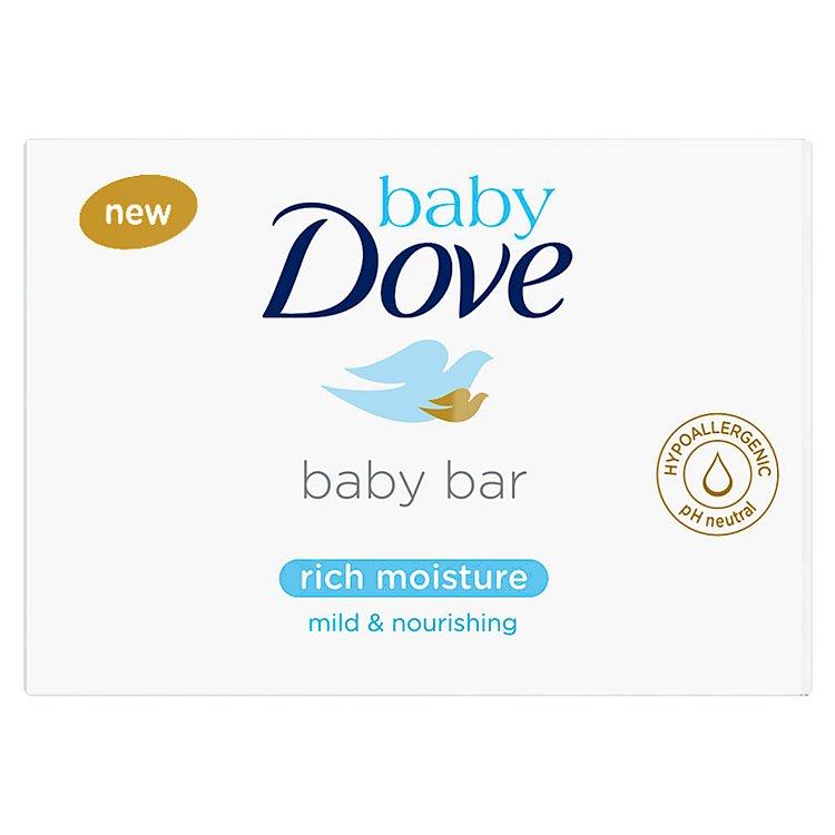 Fotografie Baby Dove Rich Moisture krémová tableta na mytí 75 g