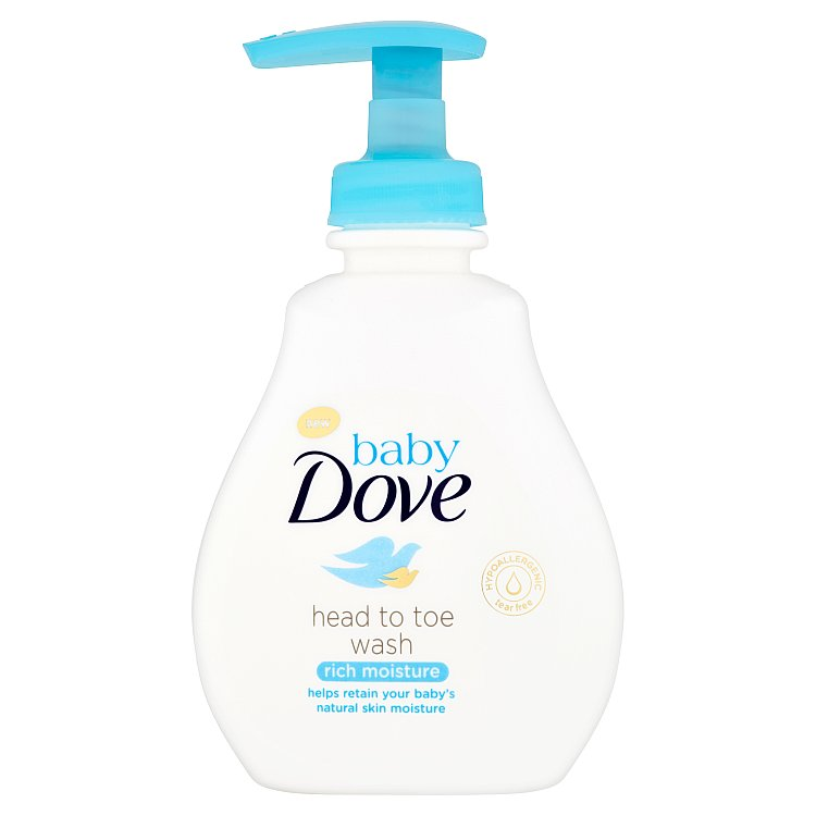 Baby Dove Rich Moisture mycí gel na celé tělo i vlásky 200 ml